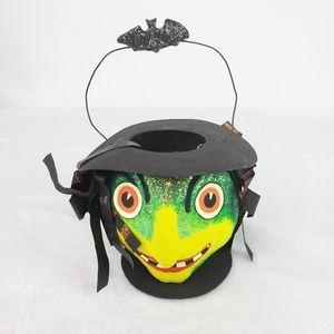 Department 56 Paper Mache Witch Pail Decor